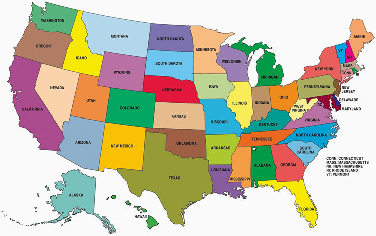 smaller 50 states